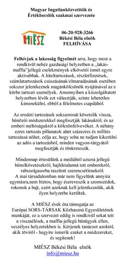 szomszédok ismerik felhívás szövege)